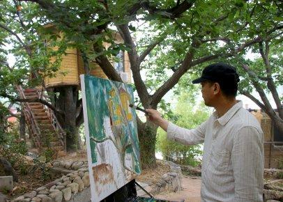 油画里的美丽乡村