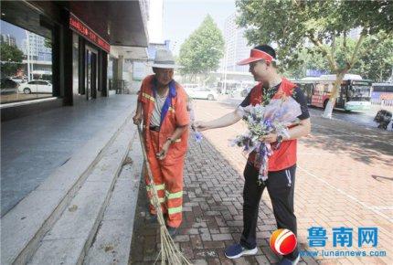 5000朵玫瑰在临沂城传递文明