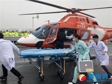 交通事故应急处置演练:直升机从天而降,现场堪比大片
