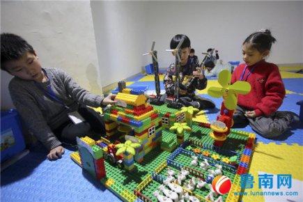 兰山区首届机器人大赛开赛