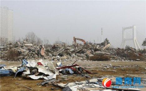 三河口澜公馆拆除完成