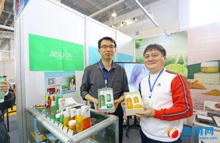 韩国客商携新款产品来到商博会