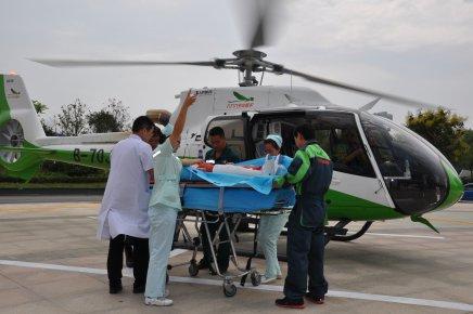 九九九救护服务细节:15公里车程直升机5分钟飞到