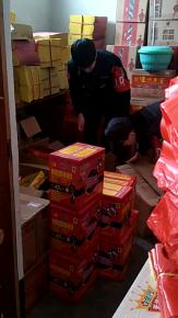 一男子私存烟花爆竹被兰山警方拘留