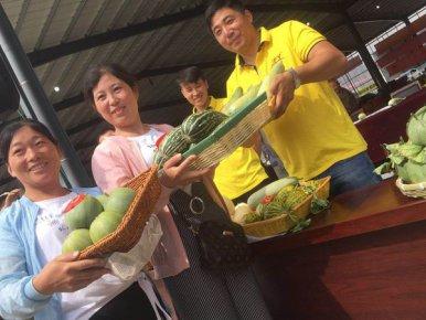 费县薛庄镇举办首届甜瓜节