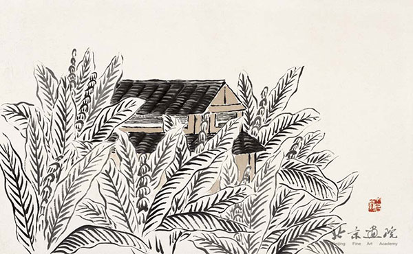 齐白石  借山图卷(共二十二开) 之二 创作年代:1910 规格:30×48