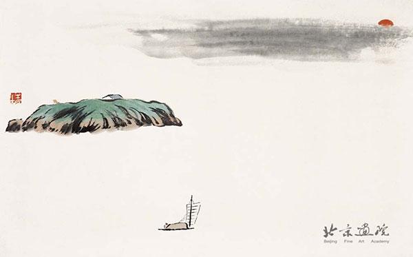齐白石   借山图卷(共二十二开) 之四 创作年代:1910 规格: 30×48