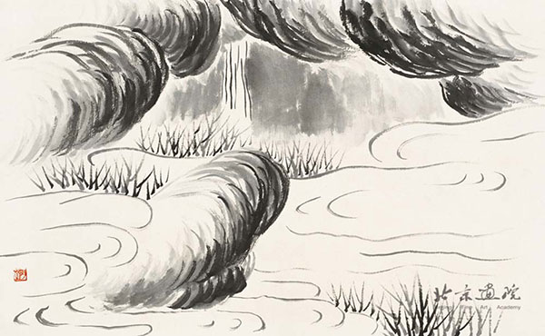 齐白石   借山图卷(共二十二开) 之六 创作年代:1910 规格:30×48