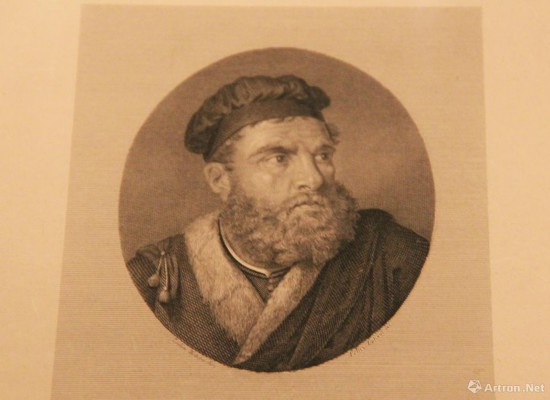 马可·波罗肖像  公元19世纪 达拉·吉塞佩绘制  铜版画   意大利威尼斯科雷尔博物馆藏