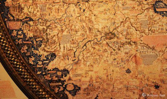 弗拉·毛罗世界地图细节 图片中心即是卢沟桥