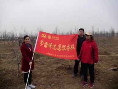 临沂移动开展团员青年志愿者植绿活动