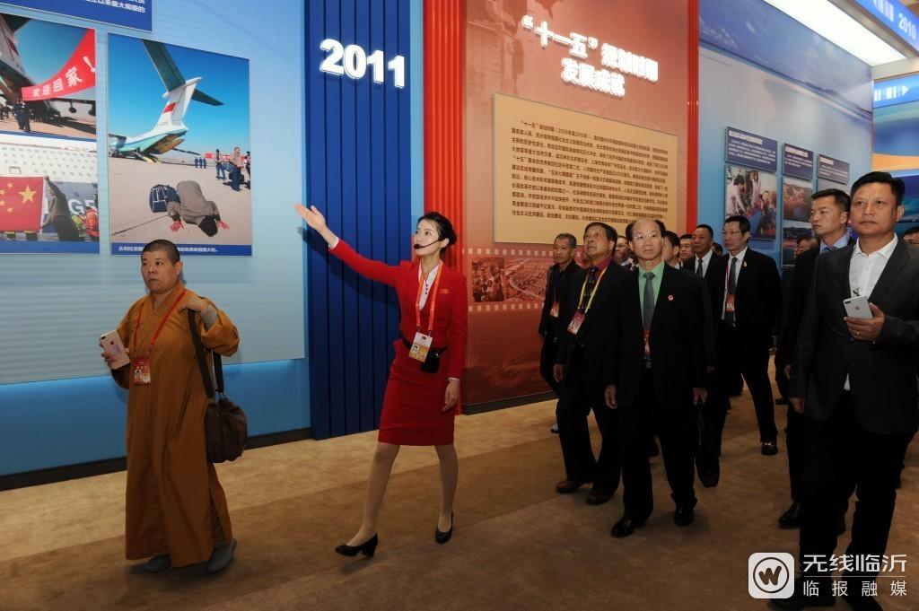 """conew_2019年""""伟大历程 辉煌成就——庆祝中华人民共和国成立70周年大型成就展""""讲解照片 (3).jpg"""