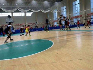 沂水县举办第九届全民健身运动会青少年排球比赛