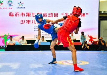 临沂市第七届运动会 散打、网球比赛精彩瞬间