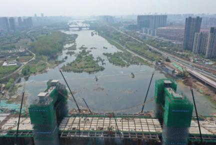 """武汉路�p河桥""""两个凯旋门""""全部浇筑完成 计划于202"""