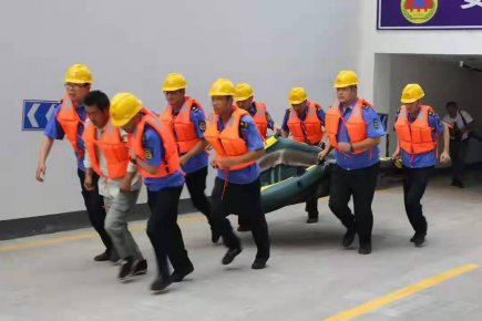 以练为战 莒南县城管局举行城区排涝防汛应急演练