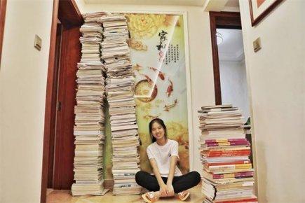 """准大学生张瑶:""""爱玩""""的学霸和她的八米""""书山�"""
